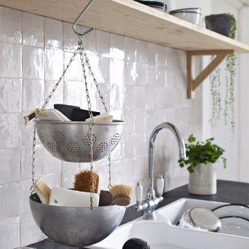 un rangement r cup dans la cuisine portemanteaux cuisine et marie claire. Black Bedroom Furniture Sets. Home Design Ideas