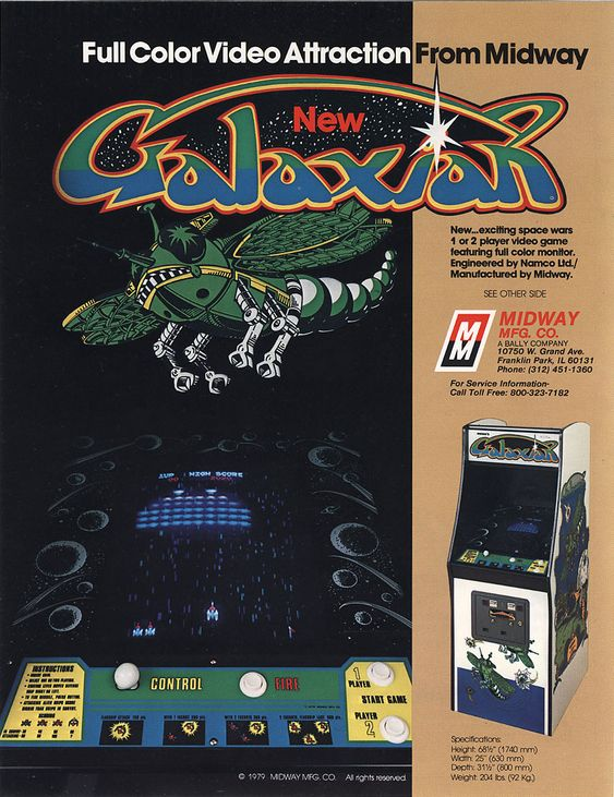 The Arcade Flyer Archive - Video Game Flyers: Galaxian, Midway Manufacturing Co.