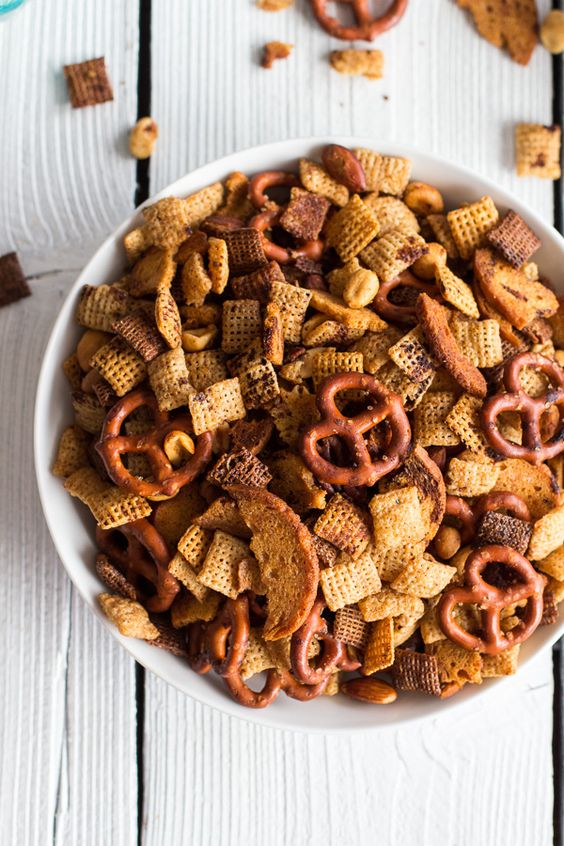 Mom's Secret Christmas Eve Chex Mix | halfbakedharvest.com @Half Baked Harvest
