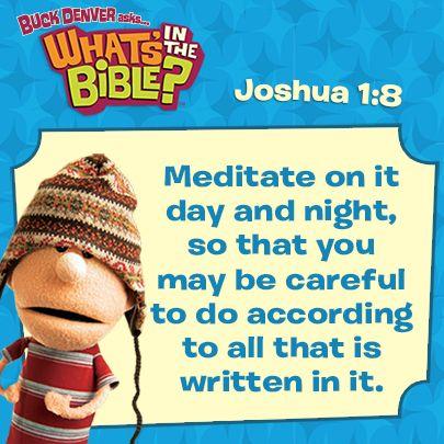 Joshua 1:8 short, free devotional at whatsinthebible.com