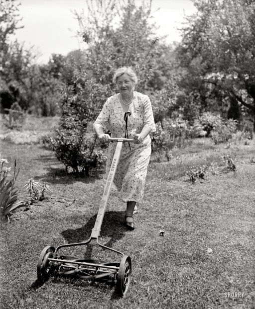Mowing On The Farm.  Ever used one of these?  If you have,  you know one of the many reasons, you don't mess with country people.  You gotta be tough.