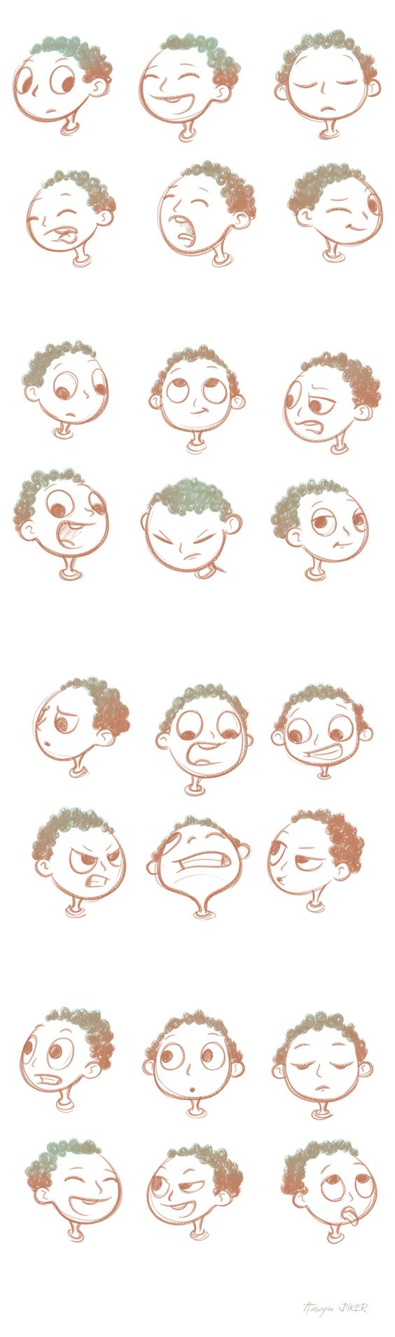 Character Design Editor : Face expressions sketch on behance character design