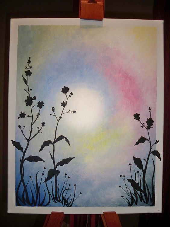 Simple acrylic painting i did last year painting ideas for Watercolor ideas easy