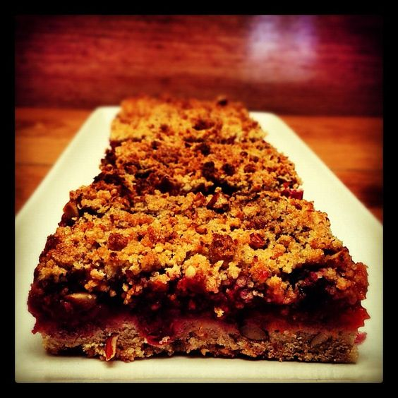 Cranberry-Mandarin Almond Streusel Bar. #tendergreenssantamonica