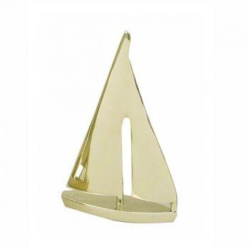 Maritime Segel-Yacht Messing als schöne Dekoration oder besondere Geschenkidee für Segler und Segelsportfans.  Keine Versandkosten innerhalb Deutschlands
