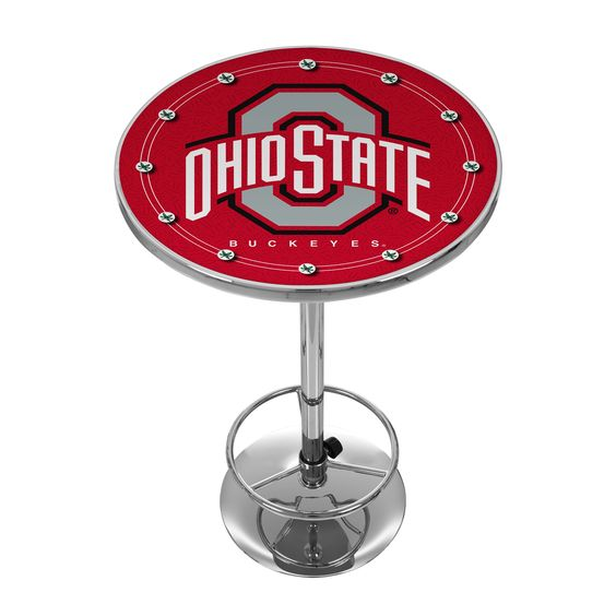 This Officially Licensed NCAA Pub Table is the perfect addition for your Game Room and adds to the atmosphere on College Game Nights.