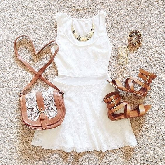 Brown and white for summer time!