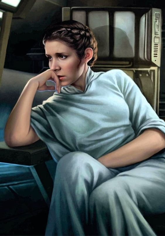 Princess Leia art. The beautiful Carrie Fisher. A4 size gloss photo print of the delightful actress