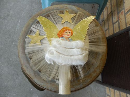 Antique National Tinsel Co. Spun Glass Angel Christmas