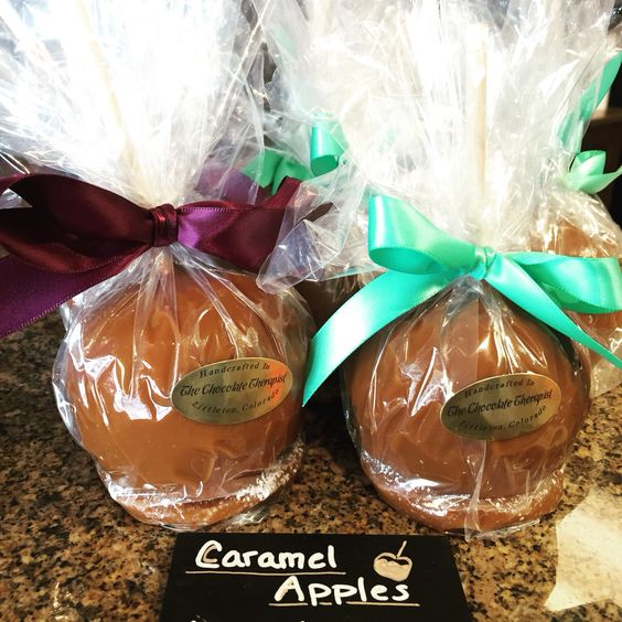 Our scrumptious caramel apples! Seasonal only
