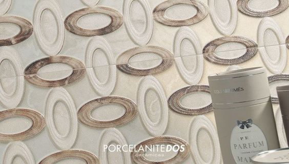 Good morning, world! We wake up with the #ceramic #Decor9516CremaCircle. :) It has a huge and amazing #tile format: 30x90cm
