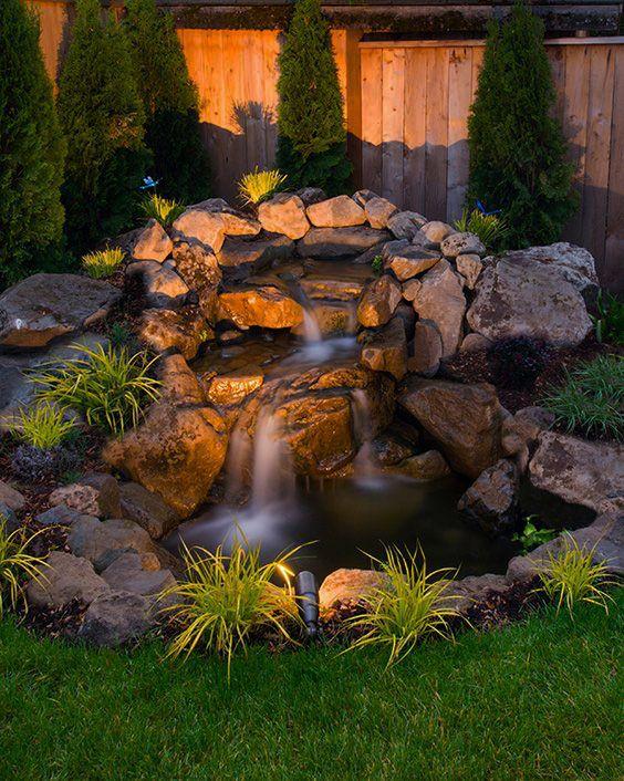 Super Creative Backyard Design Ideas Uk You Ll Love Waterfalls Backyard Small Backyard Landscaping Fountains Backyard