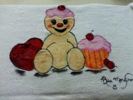 Cupcake de Biscoito com Maçã