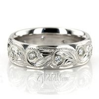 Floral Design Diamond Wedding Ring