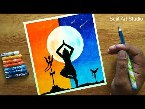 Lord Shiva Drawing With Oil Pastels Step By Step For Beginners Youtube Oil Pastel Lord Shiva Painting Oil Pastel Drawings Easy and simple drawing for children with step by step. lord shiva drawing with oil pastels