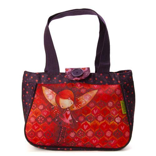 Sac à lunch Ketto , style sac à main- Juju à lulus / Ketto's round bag, sac à main - Fairy Juju *Fabriqué à 80% de bouteilles de plastique recyclées / Made of 80% of recycled plastic bottles* www.kettodesign.com