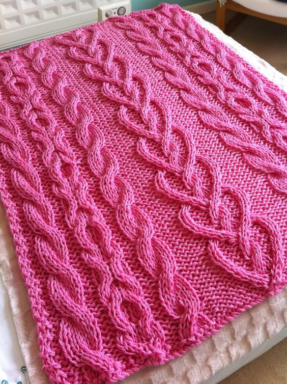 Hand Knit Blanket Heart Hands And Knit Blankets On Pinterest