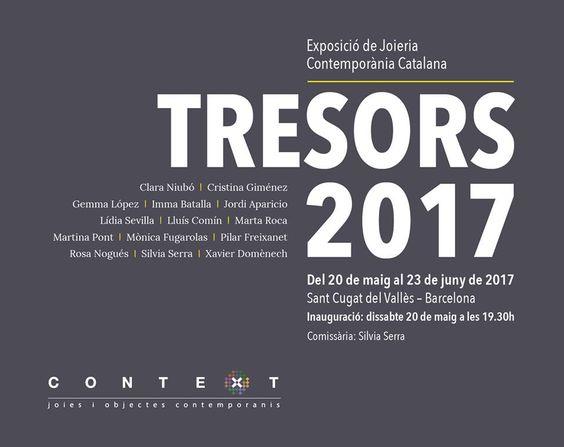 TRESORS - 20 mai-23 juin 2017 - gal CONTEXT -  con Lluís Comín  - Galeria Contex de St.Cugat el proper dia 20, que serà la inauguració.: