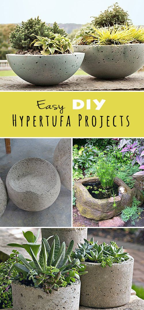 Easy Diy Hypertufa Projects Tutorials Step By Step And
