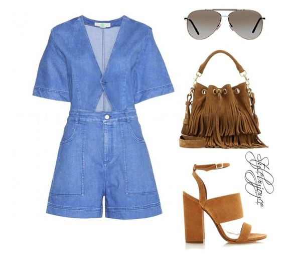 Playsuit Fun by styledbyjmini on Polyvore featuring polyvore, fashion, style, STELLA McCARTNEY, Tabitha Simmons, Yves Saint Laurent and Tom Ford