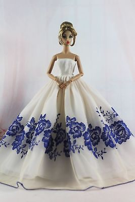 Fashion Royalty Black Flower  Princess Dress//gowns Ballgown  FOR 11.5in.Doll