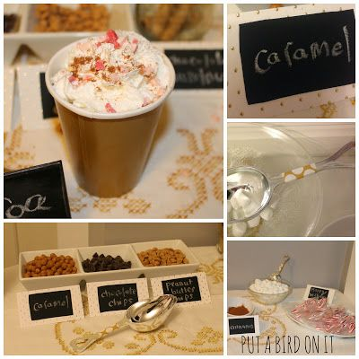 Hot Cocoa Bar for Ava's First Birthday Party | Put A Bird On It