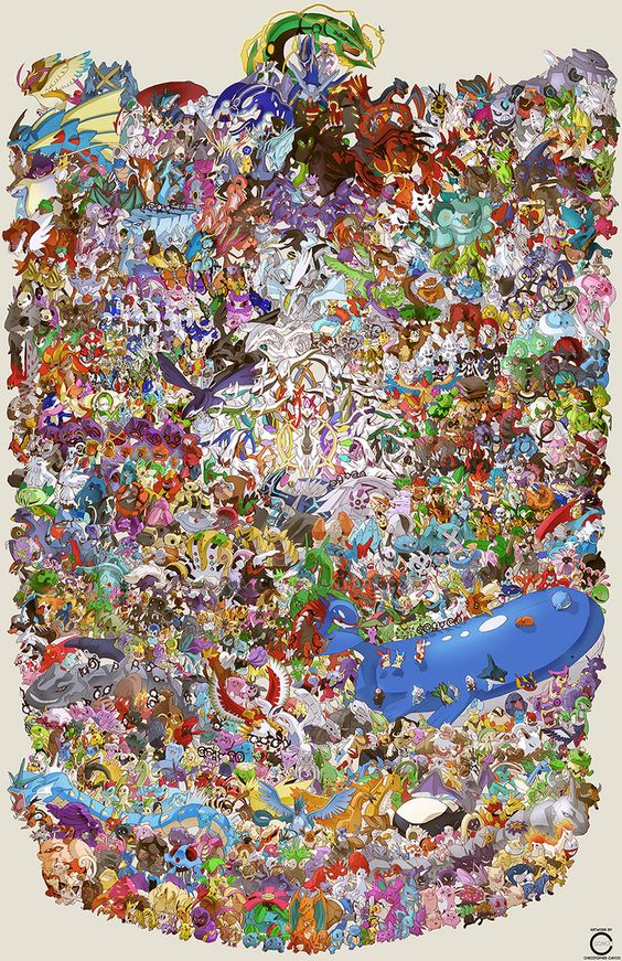 800 Pokémon sur un seul dessin réalisé en 132 heures sur 21 jours 2