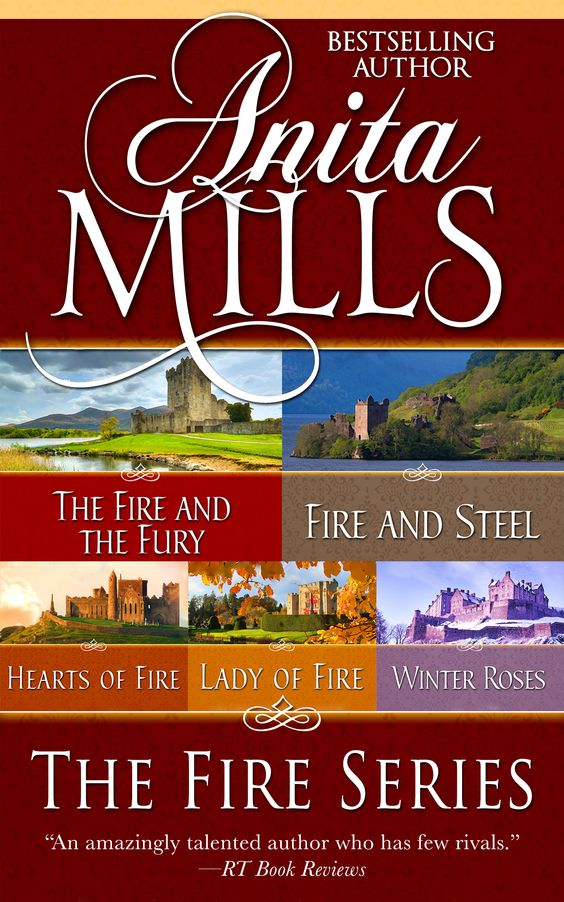 These five historical romances from Anita Mills sweeps readers back in time, to places like 11th Century Normandy, where the danger of loving the wrong man can be perilous, and where forbidden love flourishes in the darkened corners of castles.  http://diversionbooks.com/ebooks/fire-series-omnibus-edition