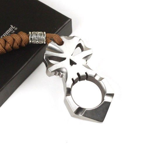 Tiremet Titanium TI Ferocious Skull Skeleton Pendant Keychain Self Defense Tool | eBay