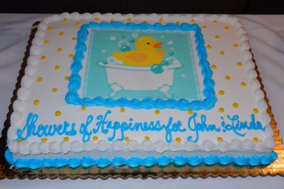 Rubber Ducky Themed Baby Shower - Cake from ShopRite