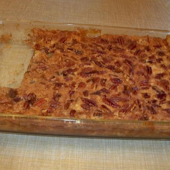 i am a very lazy baker and try not to use more than 5 ingredients. This is so so easy and so good. I definitely think pecans are a must with this, but your preference...