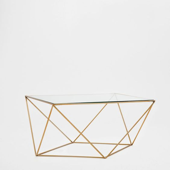 Mesa de centro geom trica m veis auxiliares cama for Table zara home