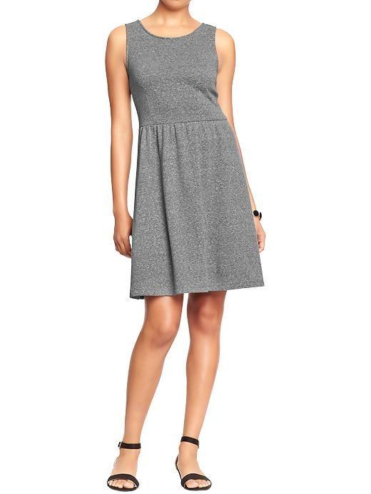 Old Navy Womens Sleeveless Terry Fleece Dresses - Med hthr gray ...