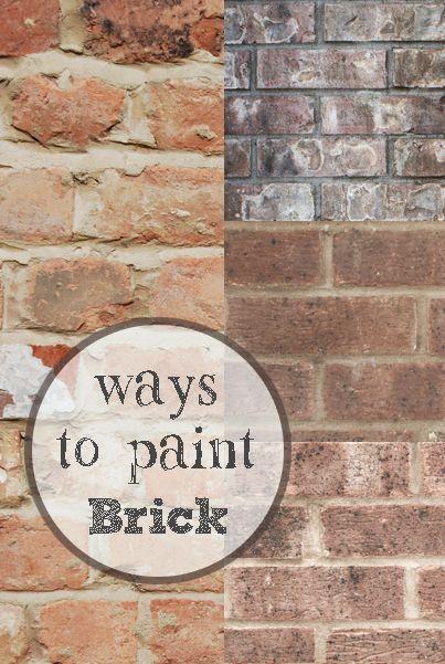 Fresh ways to update brick paint paint brick and bricks for Painting brick exterior problems