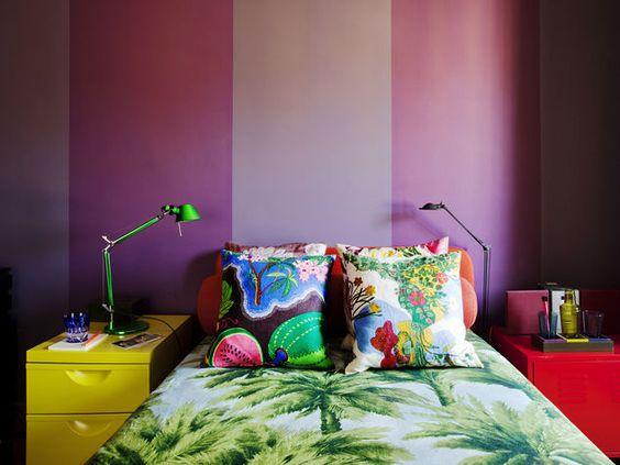 Arredare la camera da letto: colore e fantasia