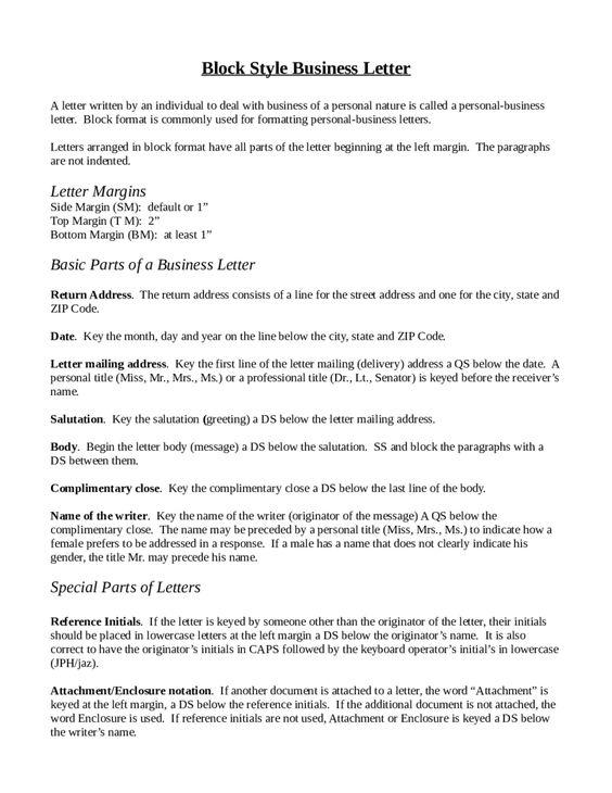 block letter format sample template Home Design Idea Pinterest - personal business letter