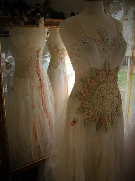 Romantic tattered etheral fairy bride/bridesmaid by MarieDesignMD