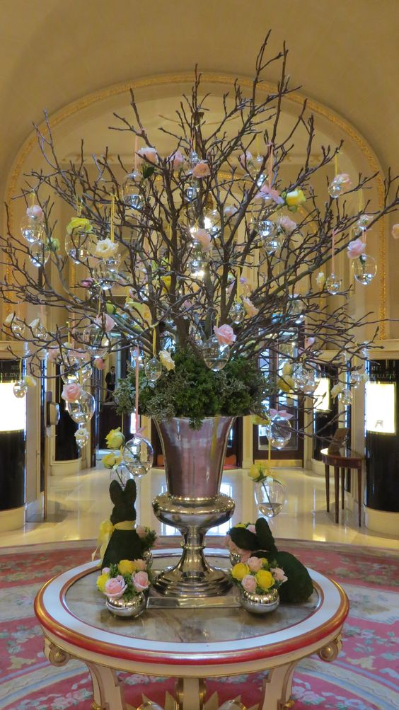 The Easter display in The Ritz London lobby: