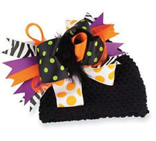 Mud Pie Holiday Trick or Treat Halloween Adorable Baby Girl Big Bow Hat  $17.99 Sold at Baby Family Gifts Ebay