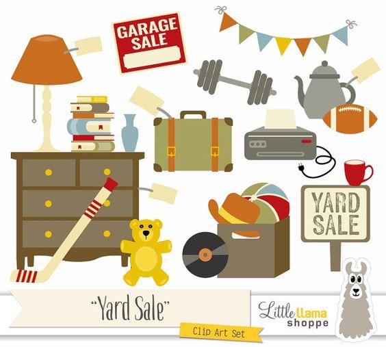 Yard Sale Clipart, Garage Sale Clip Art, Rummage Sale Clip ...