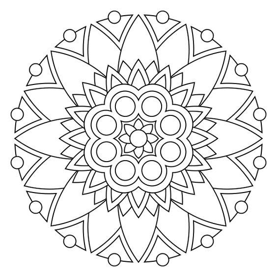 Free printable mandala coloring pages | elad | Pinterest ...