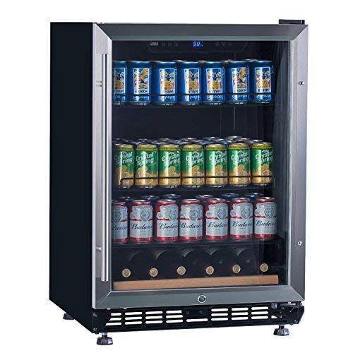 Amazon Com Lanbo Beverage Cooler Refrigerator 148 Cans Doe Certificated Built In Compressor Drink Fridge Wi Drinks Fridge Beverage Cooler Tempered Glass Door
