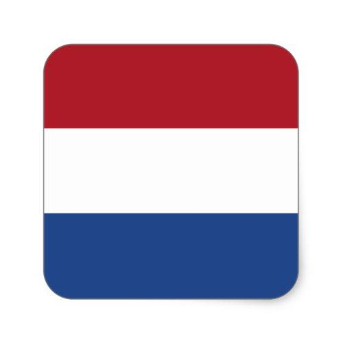 Flag Of The Netherlands Square Sticker Zazzle Com Netherlands Flag Custom Stickers Personalized Custom