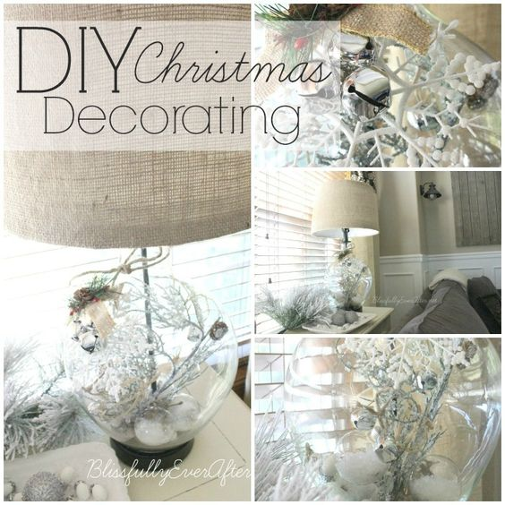 DIY Christmas Decorating Ideas at blissfullyeverafter.net