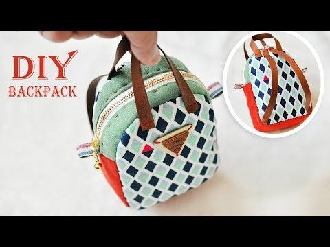 Diy Mini Backpack Tutorial Coin Purse Youtube Canta Deri