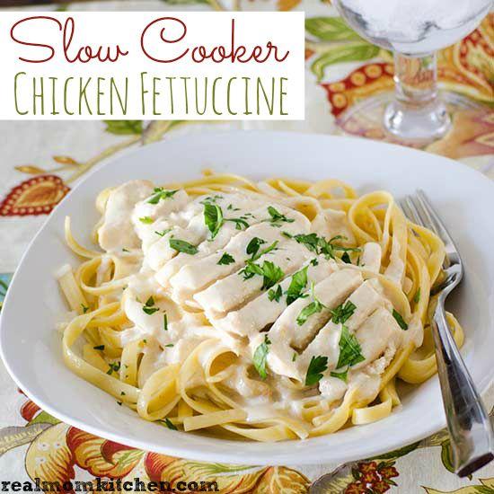 Chicken fettuccine, Slow cooker chicken and Chicken on Pinterest