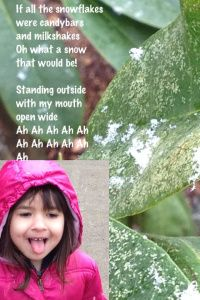 If all the snowflakes . . ., Lyrics from Barney. Design Studio app using pics from my iPhone