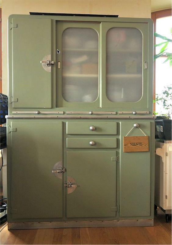 buffet emmaus #meuble-vintage #vintage Rotin et meubles vintage - relooker un meuble en pin
