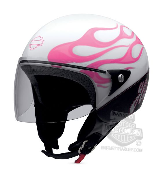 harley davidson helmets for women pink with flames | 97248-14vw