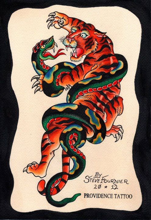 traditional tiger fighting snake on right lower leg tattoo pinterest traditional tiger. Black Bedroom Furniture Sets. Home Design Ideas